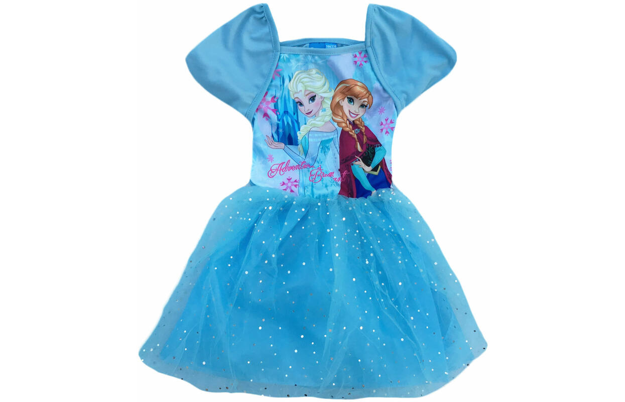 caf0ee06dc Alkalmi csillámos, tüllös ruha, Disney Jégvarázs, kék (Méret: 104-134)