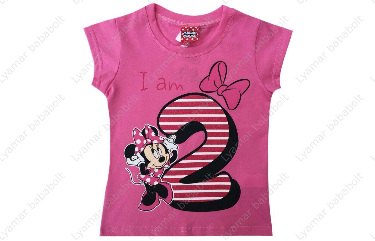 29d2821e91 Szülinapos póló, Disney Minnie 2 éves (Méret: 92-98) - Szülinapi ...