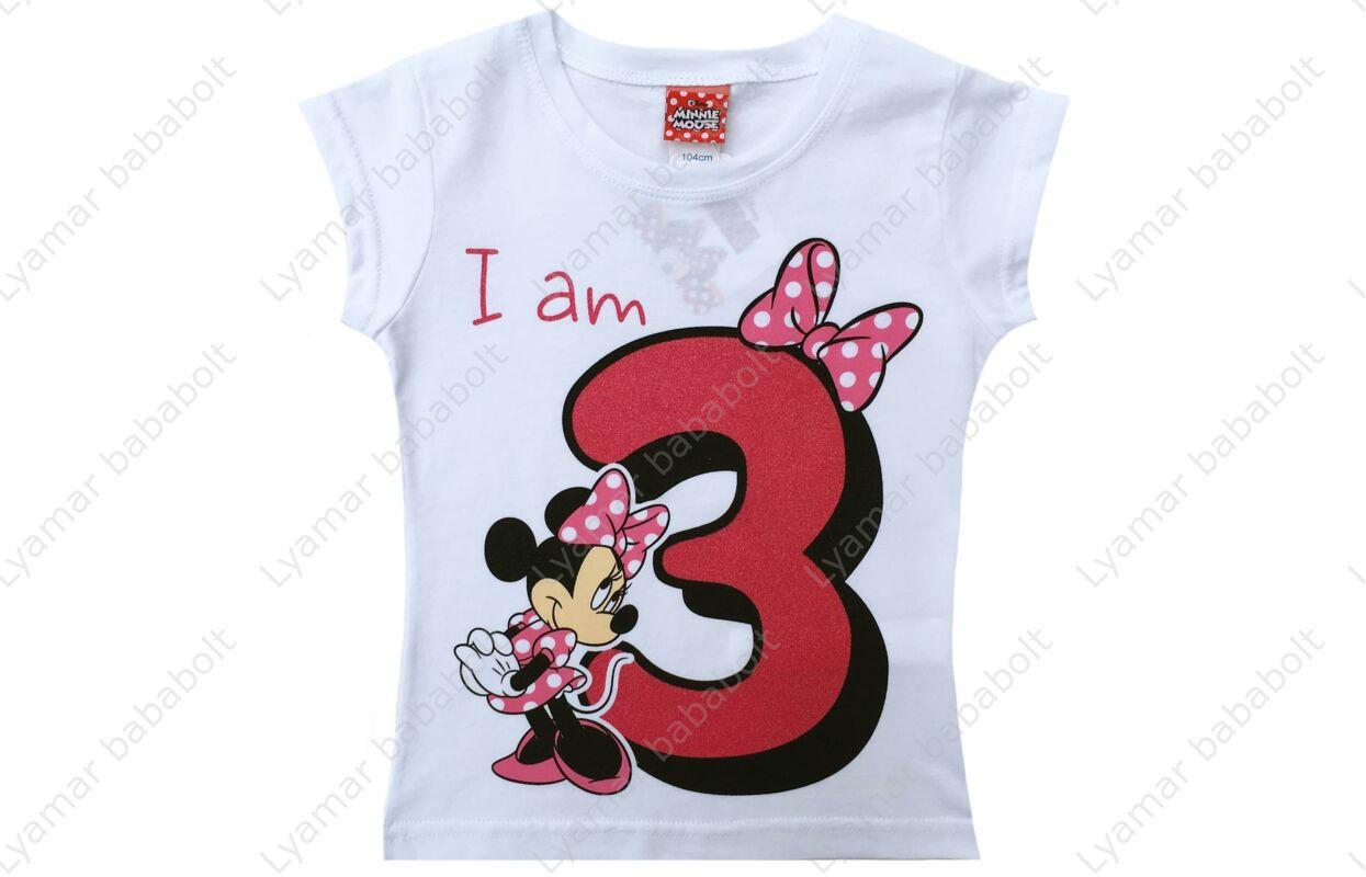 c81083caa4 Szülinapos póló, Disney Minnie 3 éves - Szülinapi póló - Babaruha ...