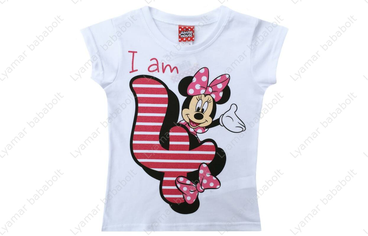 2fe9d90371 Szülinapos póló, Disney Minnie 4 éves (Méret: 104-110) - Szülinapi ...