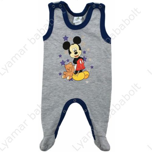 Disney Mickey bélelt ujjatlan szürke-kék rugdalózó (Méret: 62)