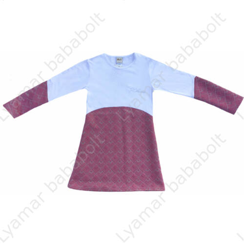 Fehér-rózsaszín elegáns, különleges, hosszú ujjú ruha (méret: 146-152)