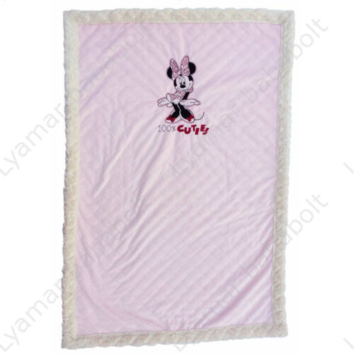 Exkluzív Disney Minnie Mouse rózsaszín-fehér takaró szőrme hatással (Méret: 75*110 cm)