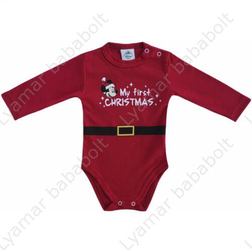 body-kombidressz-disney-mickey-elso-karacsonyom-my-first-christmas
