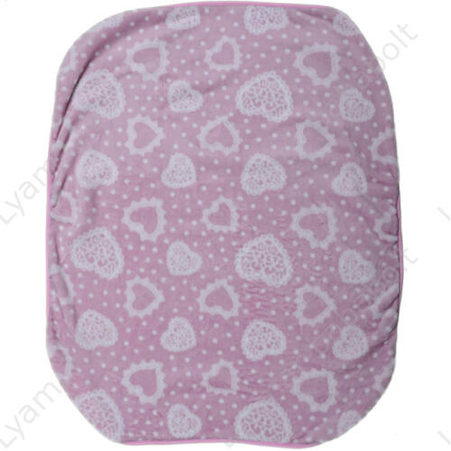 Wellsoft pléd, rózsaszín mintás (Méret: 70X90 cm)